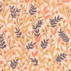 Goldenrod Coral Meadow Floral Yardage by One Canoe Two for Moda Fabrics