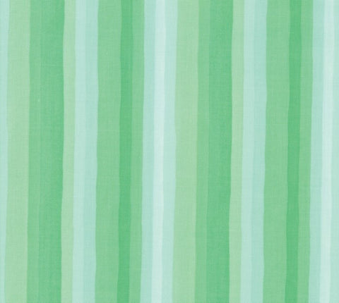 Goldenrod Aqua Gradient Stripes Yardage by One Canoe Two for Moda Fabrics