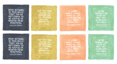 Goldenrod Multi Color Quote Panel Yardage by One Canoe Two for Moda Fabrics