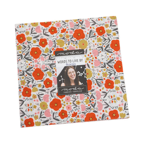 PREORDER Words To Live By Layer Cake by Gingiber for Moda Fabrics