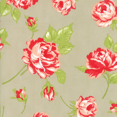 Smitten Linen Floral Yardage by Bonnie & Camille for Moda Fabrics