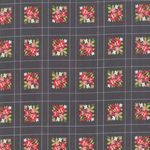 Little Snippets Charcoal Forget Me Not Yardage by Bonnie & Camille for Moda Fabrics