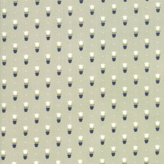 Early Bird Gray Tulips Yardage by Bonnie & Camille for Moda Fabrics