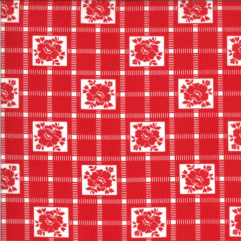 Shine On Red Check Yardage by Bonnie & Camille for Moda Fabrics