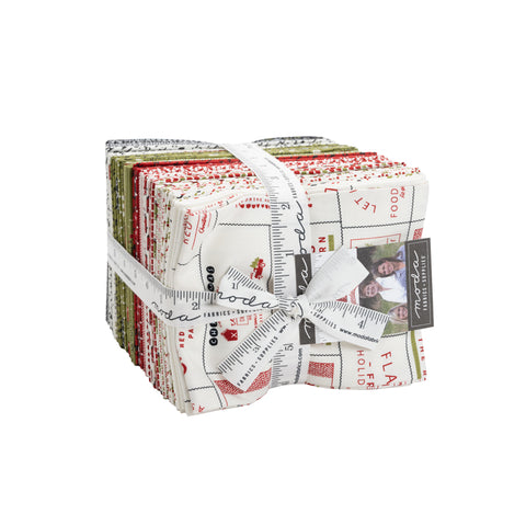 PREORDER Red Barn Christmas Fat Quarter Bundle by Sweetwater for Moda Fabrics