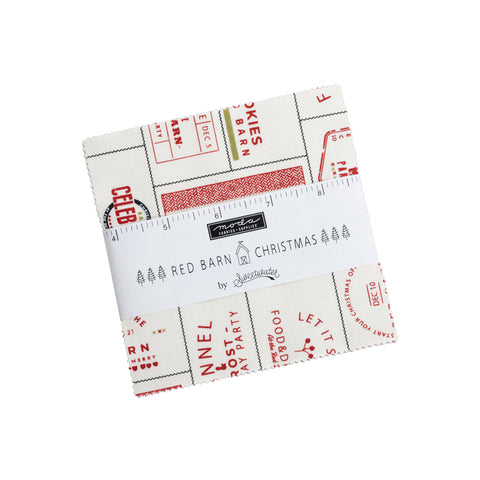 Red Barn Christmas Charm Pack by Sweetwater for Moda Fabrics