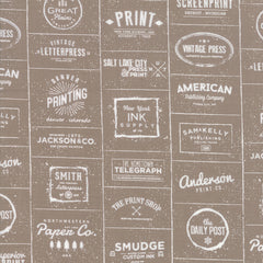 The Print Shop Clay Modern Logos yardage by Sweetwater for Moda Fabrics