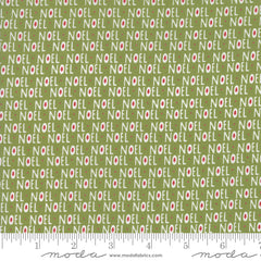 The Christmas Card Green Noel Yardage by Sweetwater for Moda Fabrics