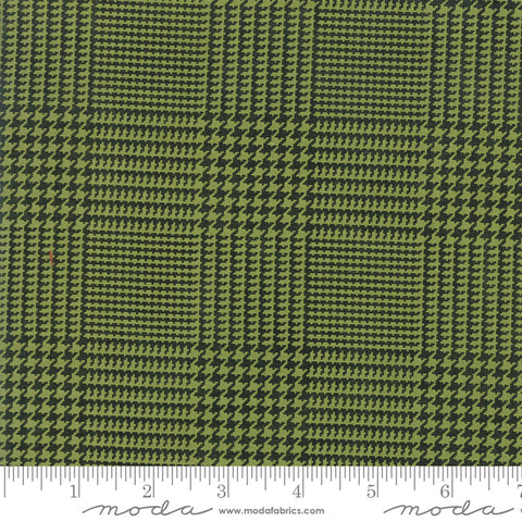 The Christmas Card Green Charcoal Christmas Letter Yardage by Sweetwater for Moda Fabrics