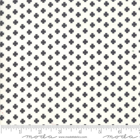 The Christmas Card Cream Charcoal Crosses Yardage by Sweetwater for Moda Fabrics