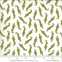 Animal Crackers Vanilla Alligator Yardage by Sweetwater for Moda Fabrics