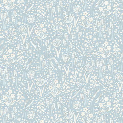 Grove By Andover Light Blue Tonal Yardage by Makower UK for Andover Fabrics