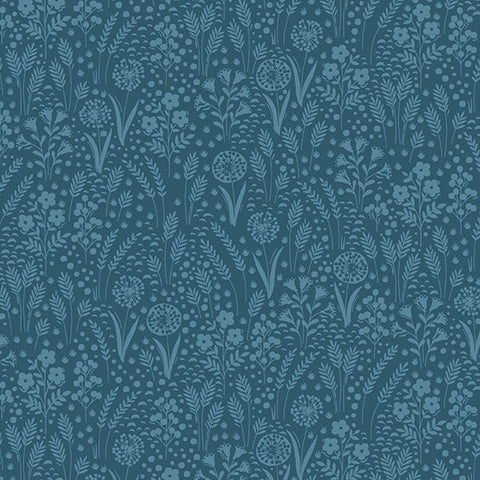 Grove by Andover Blue Tonal Yardage by Makower UK for Andover Fabrics