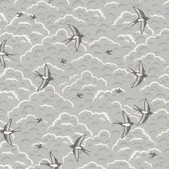 Grove by Andover Grey Swallows Yardage by Makower UK for Andover Fabrics