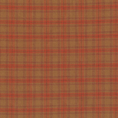 Pumpkin Patch Plaids Mustard Tartan Yardage by Renee Nanneman for Andover Fabrics