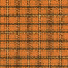Pumpkin Patch Plaids Burnt Orange Tartan Yardage by Renee Nanneman for Andover Fabrics