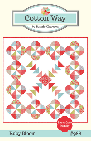 Ruby Bloom Quilt Pattern by Bonnie Olaveson