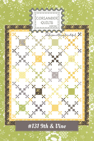 9th & Vine Quilt Pattern by Coriander Quilts