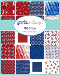 America The Beautiful Layer Cake by Deb Strain for Moda Fabrics