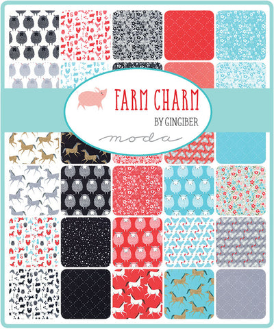 Farm Charm Fat Quarter Bundle by Gingiber for Moda Fabrics