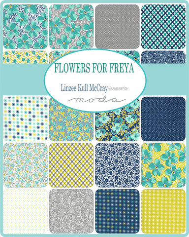 Flowers For Freya Mini Charm Pack by Lindzee McCray for Moda Fabrics