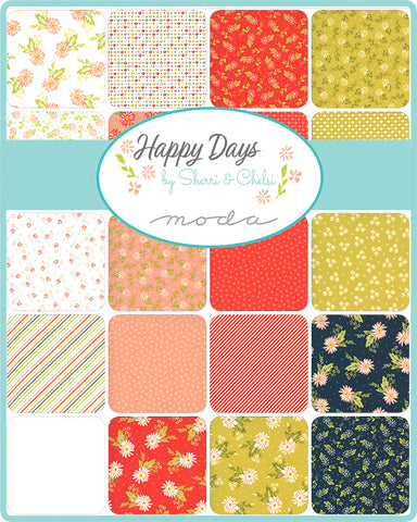 PREORDER Happy Days Fat Quarter Bundle by Sherri & Chelsi for Moda Fabrics