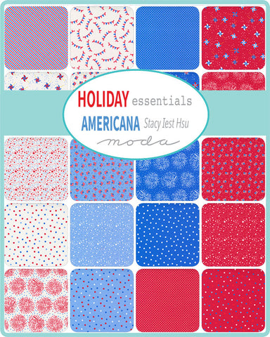PREORDER Holiday Essentials Americana Mini Charm Pack by Staci Iest Hsu for Moda Fabrics