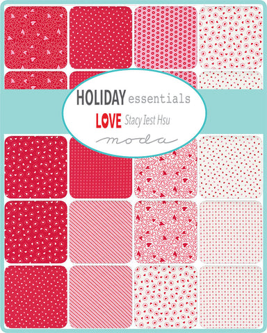 PREORDER Holiday Essentials Love Mini Charm Pack by Staci Iest Hsu for Moda Fabrics