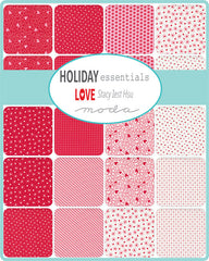 Holiday Essentials Love Charm Pack by Staci Iest Hsu for Moda Fabrics