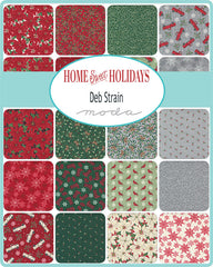 PREORDER Home Sweet Holidays Fat Quarter Bundle by Deb Strain for Moda Fabrics