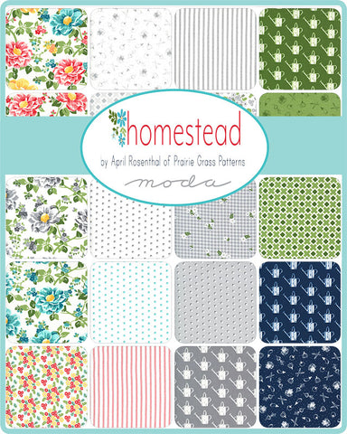 PREORDER Homestead Fat Quarter Bundle by April Rosenthal for Moda Fabrics