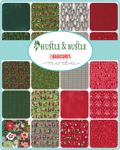 PREORDER Hustle & Bustle Mini Charm Pack by Basic Grey for Moda Fabrics