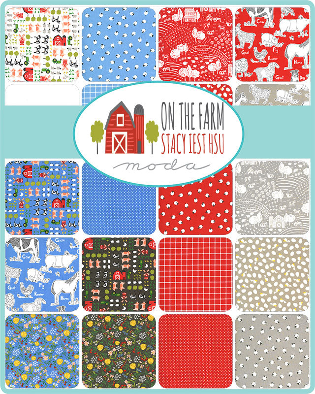 On The Farm Fat Quarter Bundle by Stacy Iest Hsu for Moda Fabrics