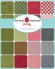 PREORDER Red Barn Christmas Jelly Roll by Sweetwater for Moda Fabrics