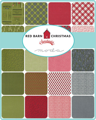 PREORDER Red Barn Christmas Mini Charm Pack by Sweetwater for Moda Fabrics