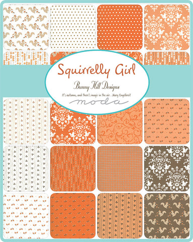 PREORDER Squirrelly Girl Mini Charm Pack by Bunny Hill for Moda Fabrics