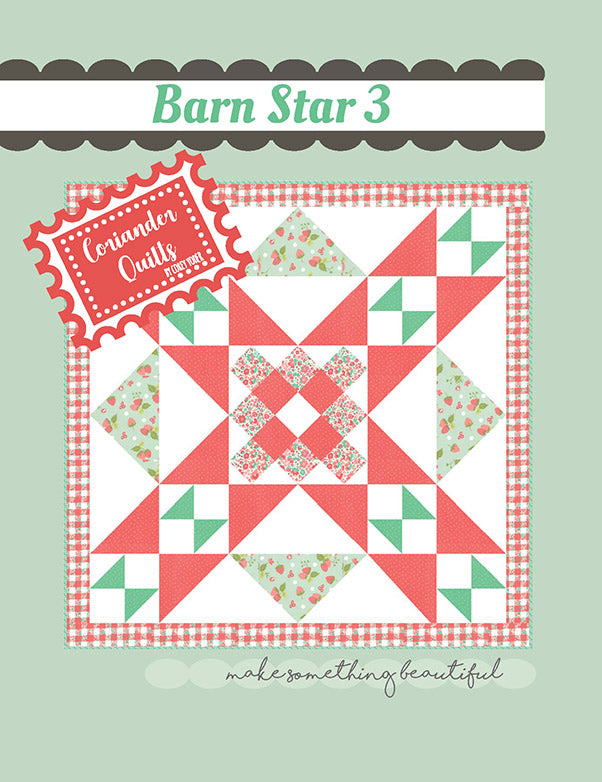 Bar Star 3 Mini Quilt Pattern by Corey Yoder of Coriander Quilts