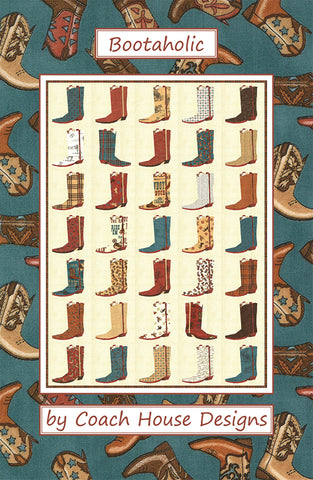 Bootaholic Quilt Pattern by Coach House Designs
