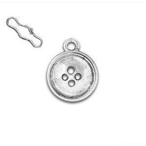 Button Zipper Pull or Sewing Charm