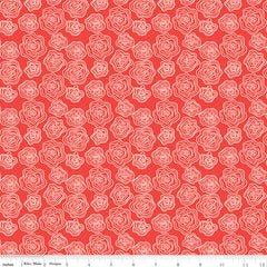 From The Heart Red Roses Yardage by Sandy Gervais for Riley Blake Designs