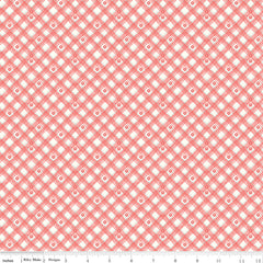 From The Heart Cream Plaid Yardage by Sandy Gervais for Riley Blake Designs
