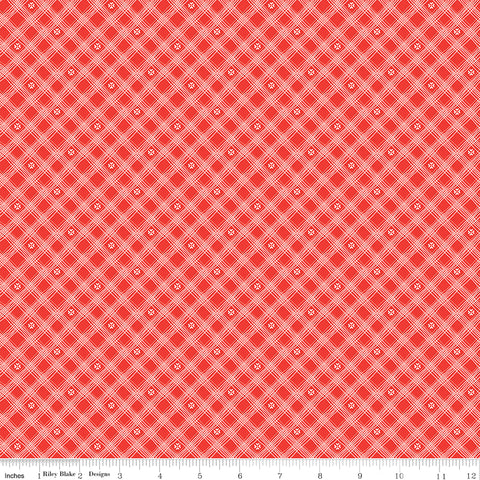 From The Heart Red Plaid Yardage by Sandy Gervais for Riley Blake Designs