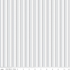 Blue Stitch Gray Stripes Yardage by Christopher Thompson for Riley Blake Designs
