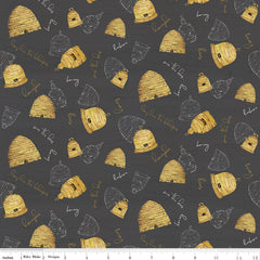 Bee's Life Charcoal Beehives Yardage by Tara Reed for Riley Blake Designs
