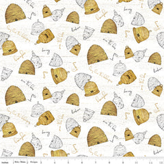Bee's Life Parchment Beehives Yardage by Tara Reed for Riley Blake Designs