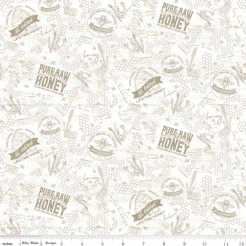 Bee's Life Parchment Tonal Yardage by Tara Reed for Riley Blake Designs