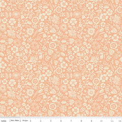 Meadow Lane Melon Floral Imprint Yardage by Sara Davies for Riley Blake Designs
