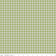 Grove Limeade Houndstooth Yardage by Jill Finley for Riley Blake Designs