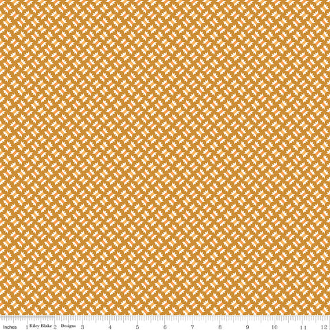 Flea Market Butterscotch Flossy Yardage by Lori Holt for Riley Blake Designs