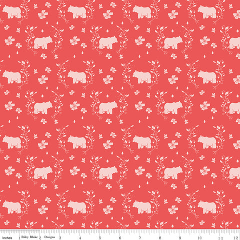 Strawberry Honey Cayenne Bears Yardage by Gracey Larson for Riley Blake Designs